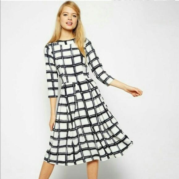 a346c1621848 ASOS Dresses   Skirts - ASOS Midi Skater Dress in Check Print